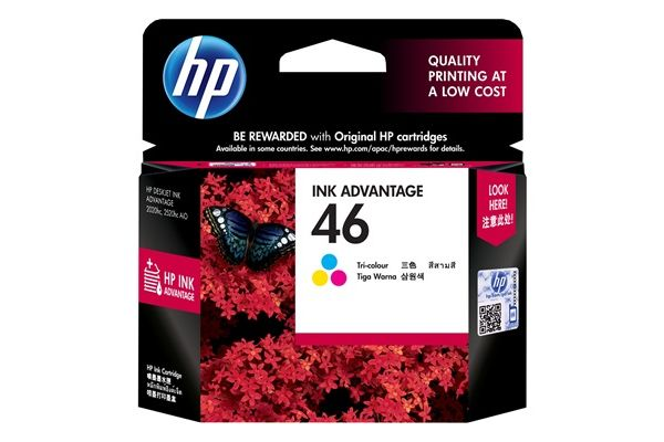 The DeskJet Ink Advantage Ultra 4729 uses the HP46 ink cartridge, which costs RM46 each.