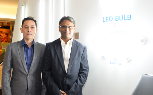 From L-R: Fuji Sartono, Country Manager, Head of Marketing, Philips Lighting; and Alok Ghose, Commercial Leader, Managing Director, Philips Lighting, Malaysia.