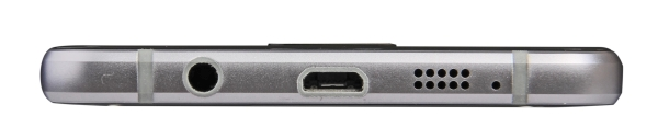 The bottom is where you'll find the 3.5mm audio and Micro-USB ports, as well as the speaker grille,