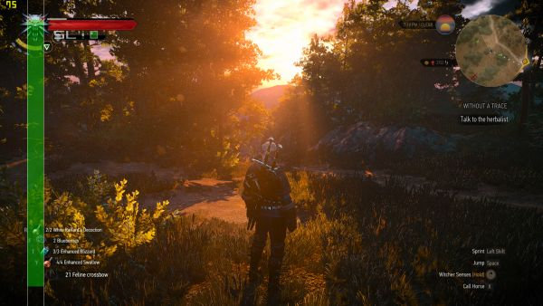 In The Witcher 3: Wild Hunt, in Full HD resolution and with all settings maxed out, the game ran at an average of 70 frames per second.