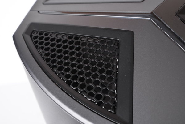 The entire top functions as an exhaust, and the cooling system is called Silent Storm Cooling.