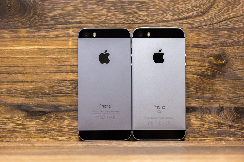 Almost Identical Although The SEs Space Gray Actually Looks A Few Shades Lighter Than