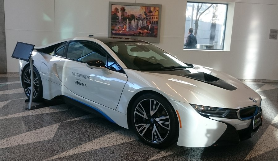 The BMW i8 is one of the first cars to embrace a fully NVIDIA powered infotainment system by the Drive CX.
