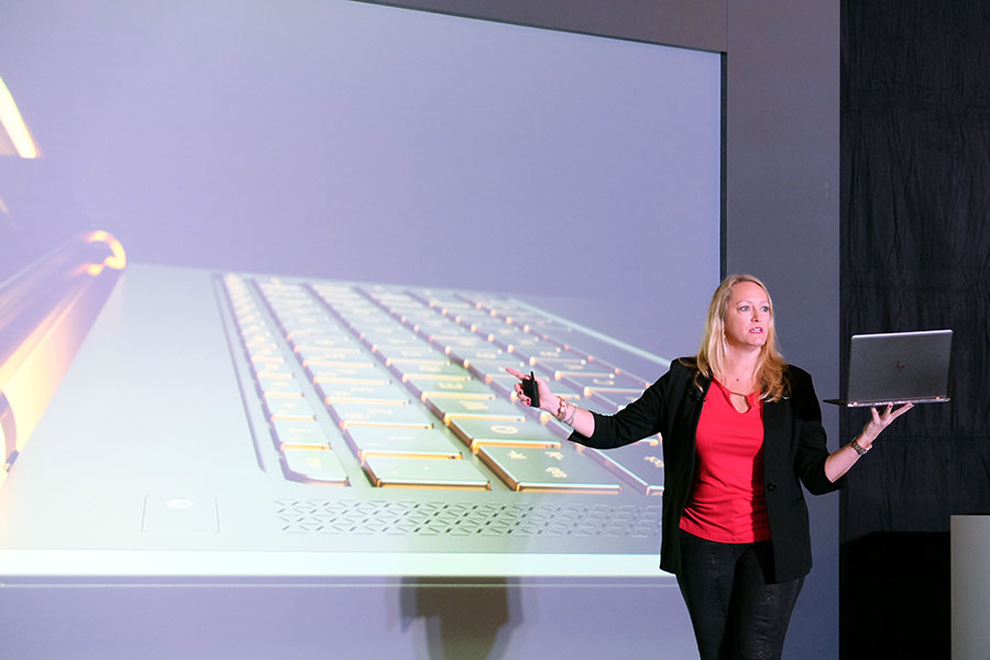 Anneliese Olson, HP's General Manager and VP of Personal Systems Business in APJ, talks about the new HP Spectre at a special HP event in Macau earlier this year.