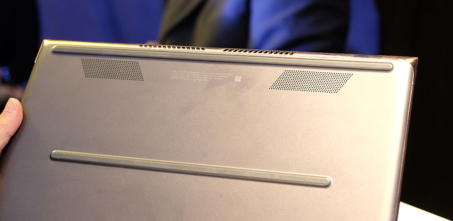 HP Spectre cooling system vents