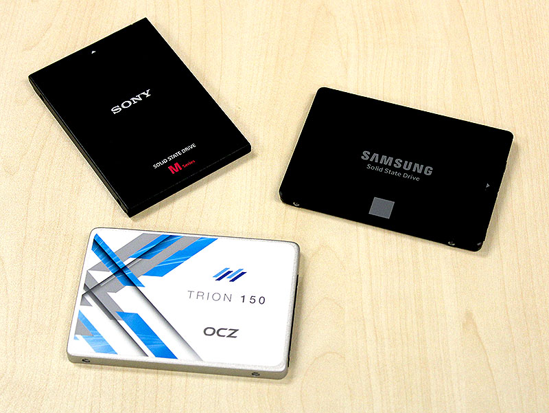 The Samsung SSD 750 Evo is our top performer; the OCZ Trion 150 is the most affordable; and the Sony SLW-M performs unexpectedly well.