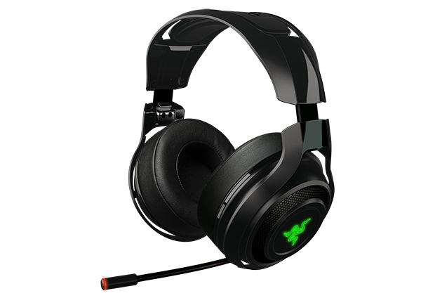 Headset sem fio de jogo ManO'War da Razer promete áudio de jogo sem lag