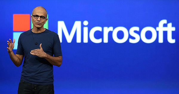 CEO Satya Nadella may be taking a 'mobile first, cloud first' approach to Microsoft's business, but the cloud has run up against several privacy issues in a time when so much customer data is stored online. (Image Source: CNBC)
