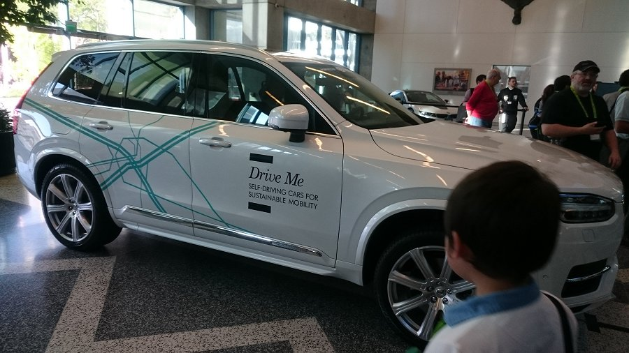 Looks like kids are already feeling safe with self-driving cars.