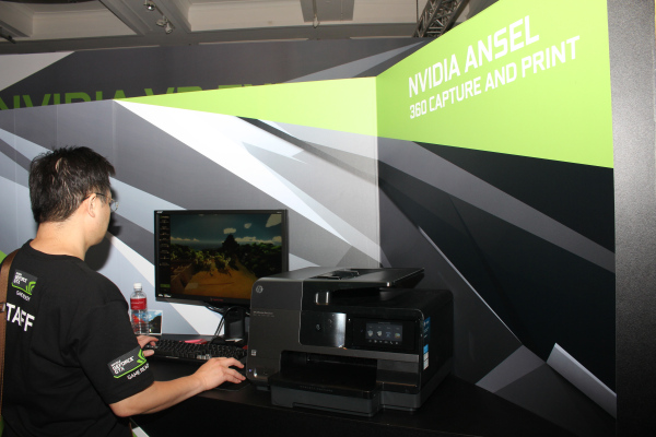 NVIDIA was also giving visitors a chance to create their own high resolution video game photo with Ansel. Click here to learn more on Ansel.