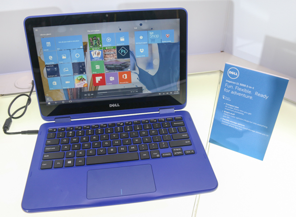 The 11.6-inch Dell Inspiron 2-in-1 notebook.