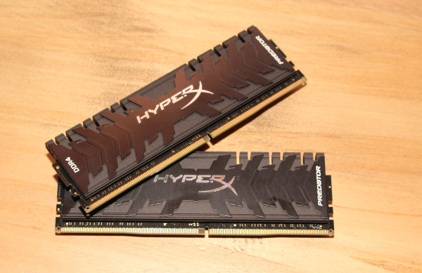 The new HyperX Predator DDR4 RAM sports a slimmer and lower heatsink profile.