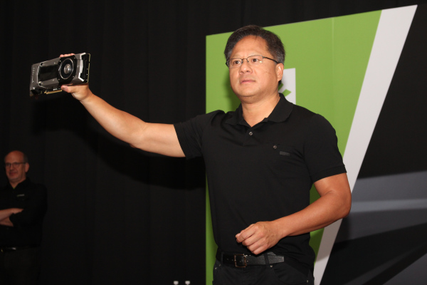 Jen-Hsun Huang, CEO of NVIDIA, at his company's official press conference today.
