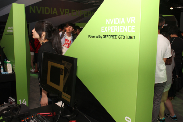 NVIDIA had set up several VR Experience booths at the venue.