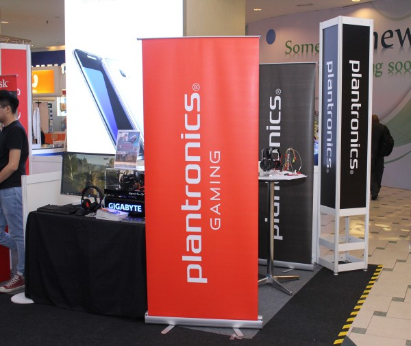 Looking to get a great pair of headphones? Then you can't go wrong with Plantronics, who's also got a booth set up at our event.