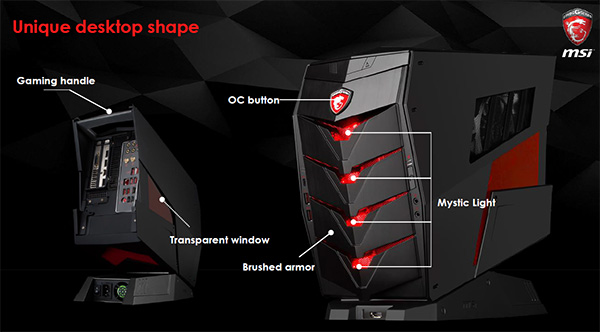 The MSI Aegis X chassis design