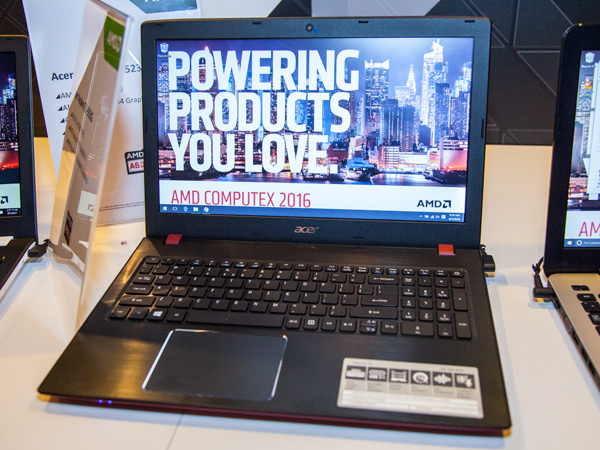 The Acer Aspire E5-523 laptop will come with an AMD A6-9210 APU, AMD Radeon R4 graphics, 4GB DDR4 memory and a 500GB hard disk drive.