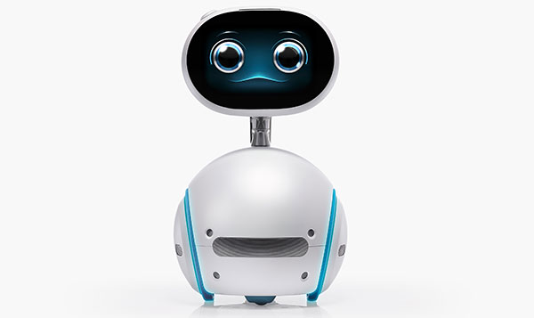 This cute robot rolls and has a touchscreen face. (Image Source: ASUS)
