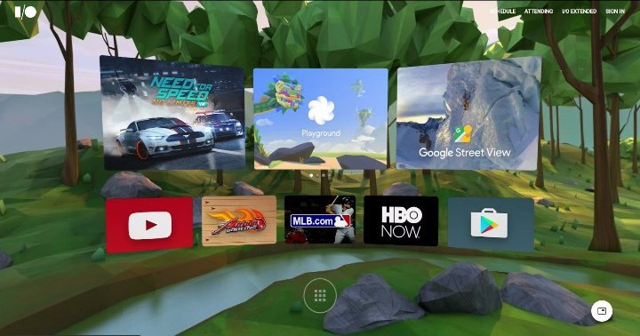 Here's screen grab from the I/O keynote where Google showed off what the Daydream Home could look like.