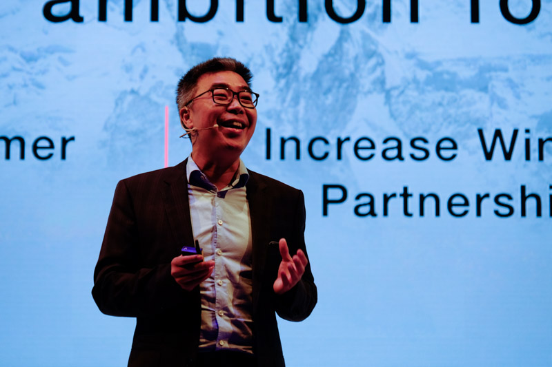 Mr Peter Tong, President of Huawei Consumer Business Group Southern Pacific Region, takes the stage to share the latest developments with Huawei's B2C business.
