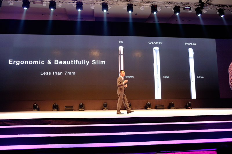 The Huawei P9 is easily one of the slimmest smartphones in its class.