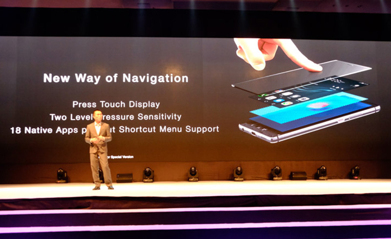 Press Touch is another option for navigating the P9 Plus.