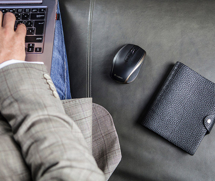 The Logitech MX Anywhere 2 is designed to be used anywhere. It features Logitech's Darkfield laser sensor which can even track on glass. (Image source: Logitech)