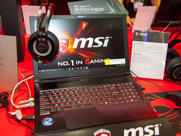 The new MSI GS63 is a 15.6-inch gaming notebook that is the thinnest and lightest of its class. It comes with similar features as the GS73 and it's also slated for an upgrade to the next generation NVIDIA mobile graphics GPU.