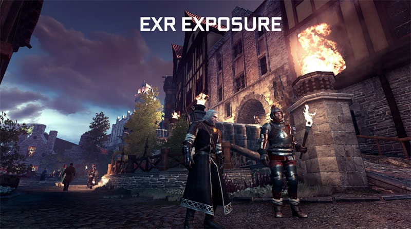 NVIDIA Ansel EXR exposure