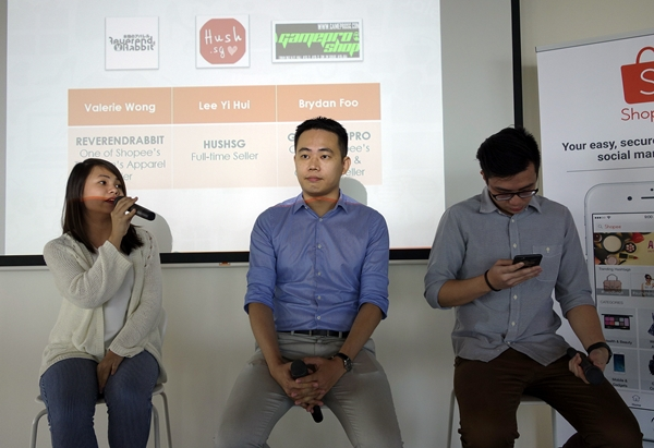 The panel discussion with three top Shopee sellers.