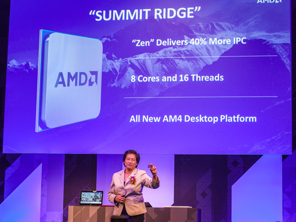 """The new """"Summit Ridge"""" will deliver 40% more IPC, comes with 8 cores and 16 threads, and based on the new AM4 platform."""