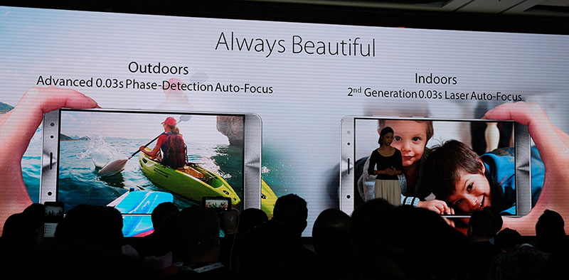 The camera will automatically use the appropriate focusing method for different situations.