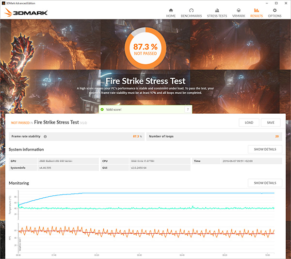 3DMark now has a stress test tool for overclockers