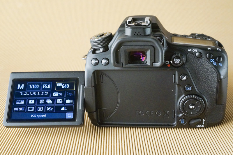 The flip-out LCD is extremely handy for covering all sorts of angles; especially during video.
