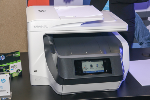 The HP OfficeJetPro 8730 All-in-One printer.