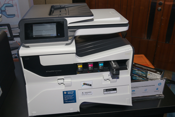 The HP PageWidePro 577dw Multifunction Printer.