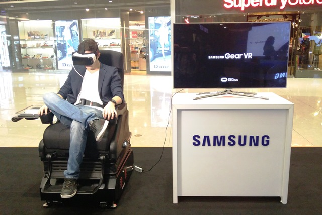 The Samsung Galaxy Gear VR with the 4D chair for a more immersed movement and experience.