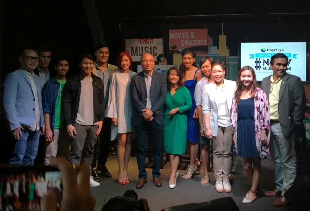 Mr. Orlando Vea (center) at the launch of PayMaya's #NowNation campaign.