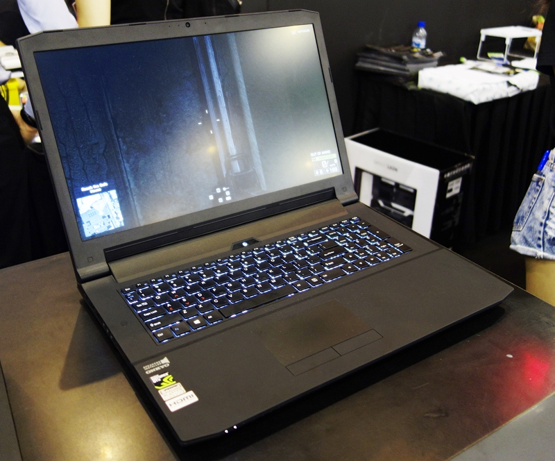 """The Aftershoch SM-17 features a not-commonly-seen NVIDIA GeForce GTX 965M graphics chipset, and its touted performance is close to that of the GTX 970M, and costing less. The gaming notebook is powered by an Intel Core i7-6700U CPU, with 16GB of DDR4 system memory. Its large 17.3"""" full HD display has a matte finish to reduce glare. Its storage needs are taken care by a 1TB HDD; the system is priced at $1,874 (UP: $2,079)"""