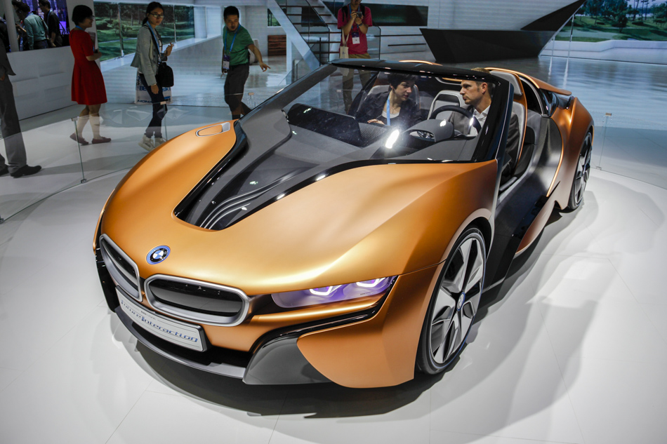 The BMW i Vision Future Interaction Car was announced at CES 2016; it doesn't feature a self-driving system; however, it's a highly automated vehicle without doors!
