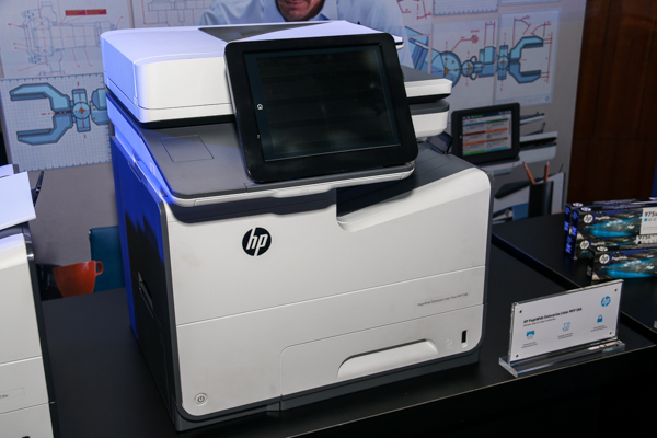 The HP PageWide Enterprise Color MFP 586.