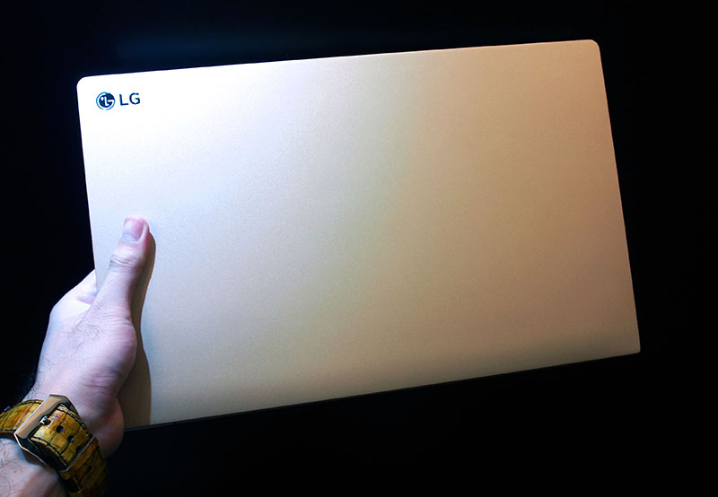 The 15-inch LG Gram is so light, we had no problems lifting it with one hand.