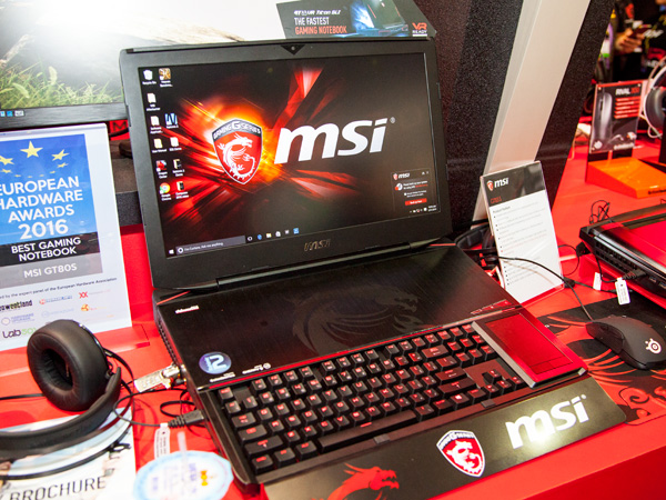 Seen at Computex 2016, the new MSI GT83S comes with an 18.4-inch FullHD IPS display with a 6th generation Intel Core i7 processor. For graphics processing, it sports a pair of desktop GeForce GTX 10 series GPUs in SLI configuration. It's also equipped with a pair of 512GB NVMe M.2 SSD and a 1TB HDD. Its system memory maxes out at 64GB!