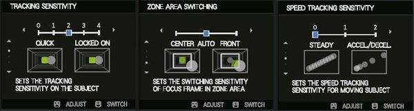 New options allow you to fine tune focus to best meet your needs.