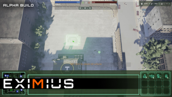 In Eximius, Commanders have access to the RTS interface, which allows them to build structures, assign A.I. squads to teammates, and more.