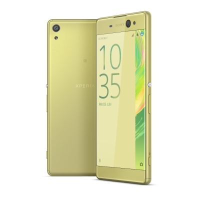 The Sony Xperia XA Ultra in Lime Gold. <br> Image source: Sony.