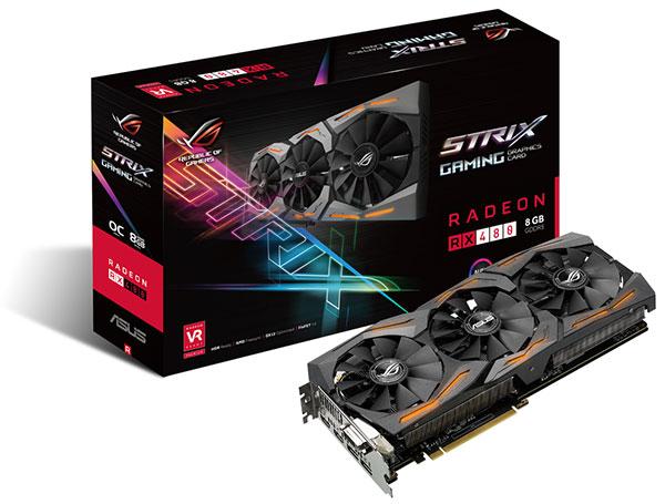 ASUS ROG Strix Radeon RX 480. (Image Source: ASUS)