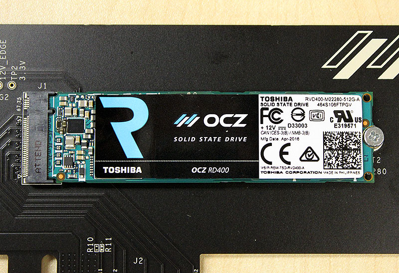 There's not much to see on the drive, as it is mostly covered by a large OCZ sticker.