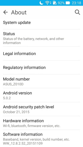 The ZenFone Max is running on a two-year-old Android OS with an outdated Android security patch.