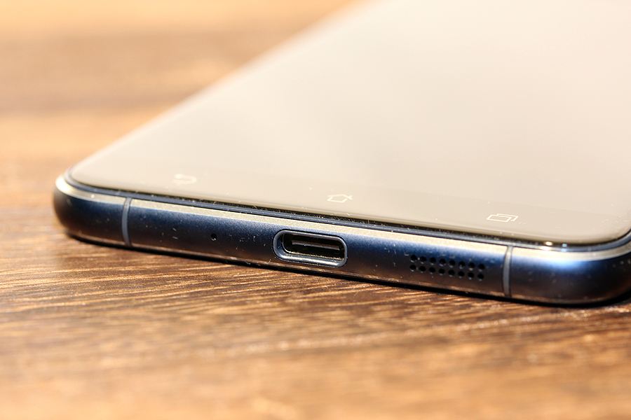 The phone uses the new USB Type-C port for charging.